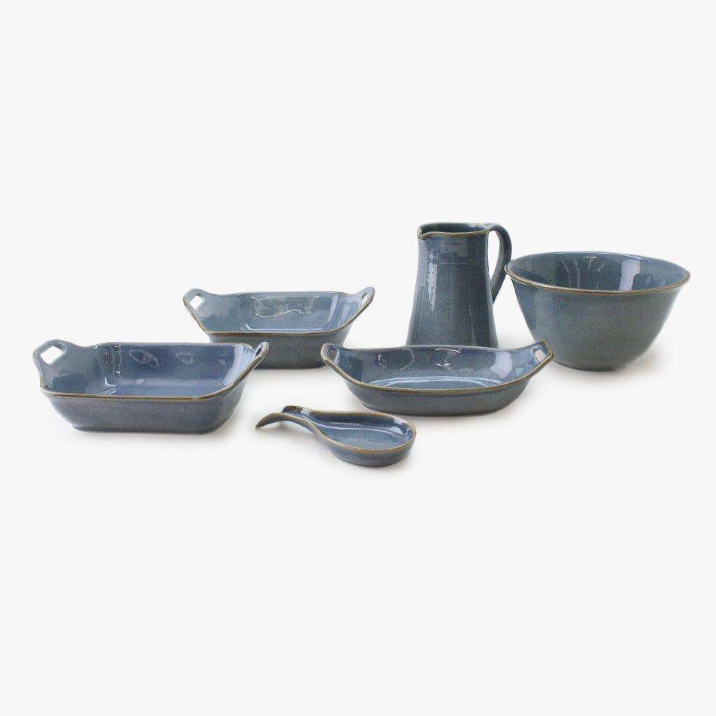 Base de colher Porto Covo Grés fino Azul 22 cm
