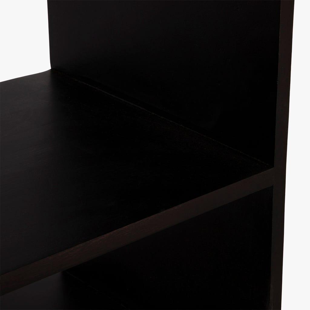 Estante Saramago madeira preto 105x30x180 cm