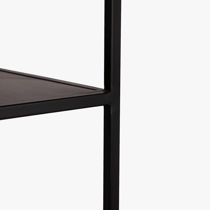 Estante Tolstoi metal preto 90x35x180 cm