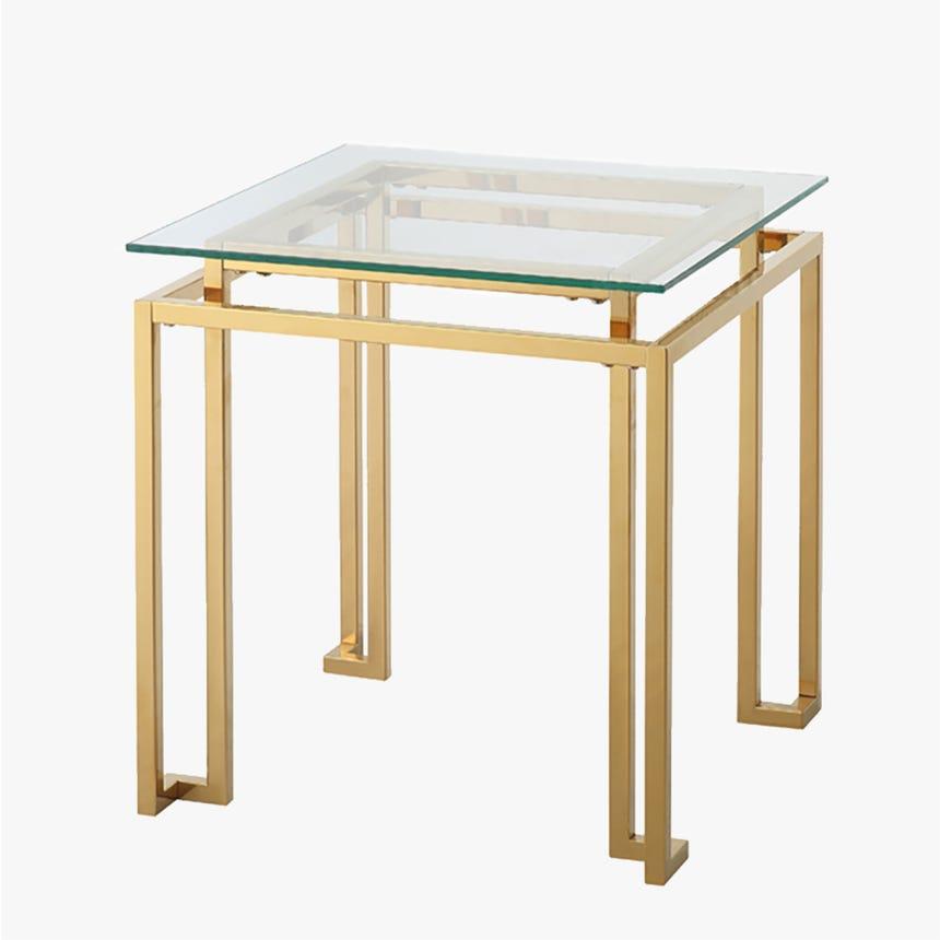 Mesa de apoio Bellagio dourado 50,8x50,8x55