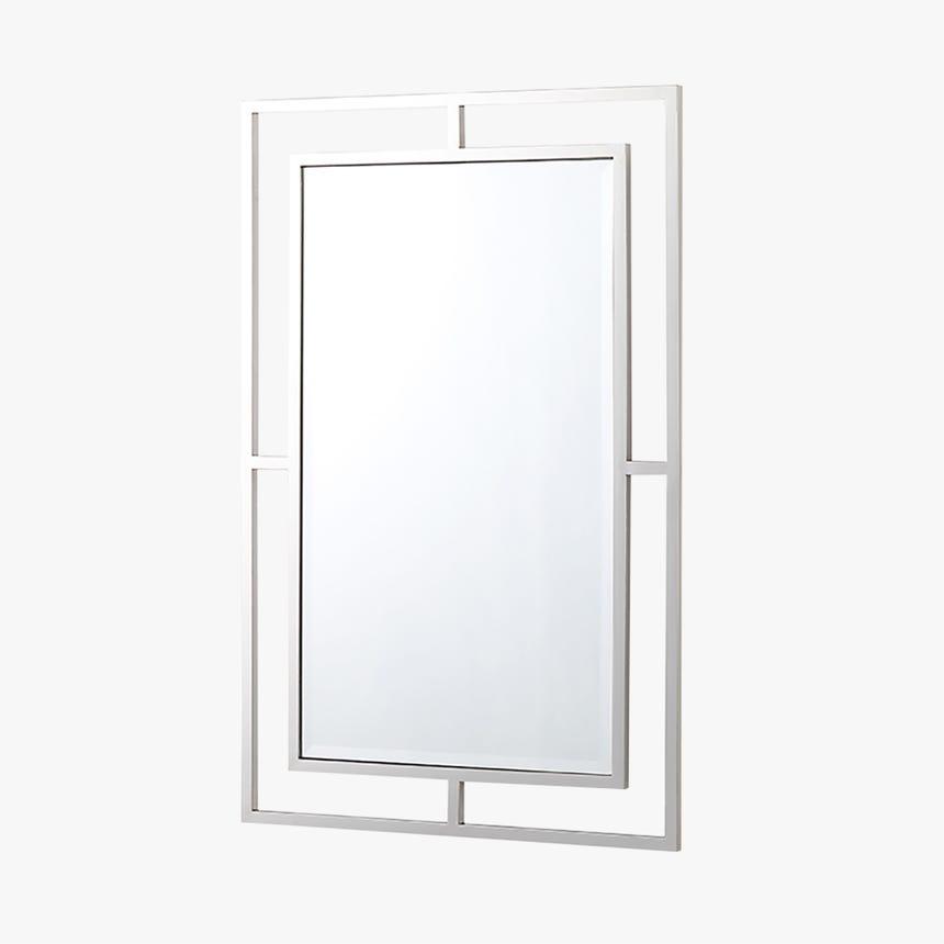 Espejo Bellagio Plata 106x70 cm
