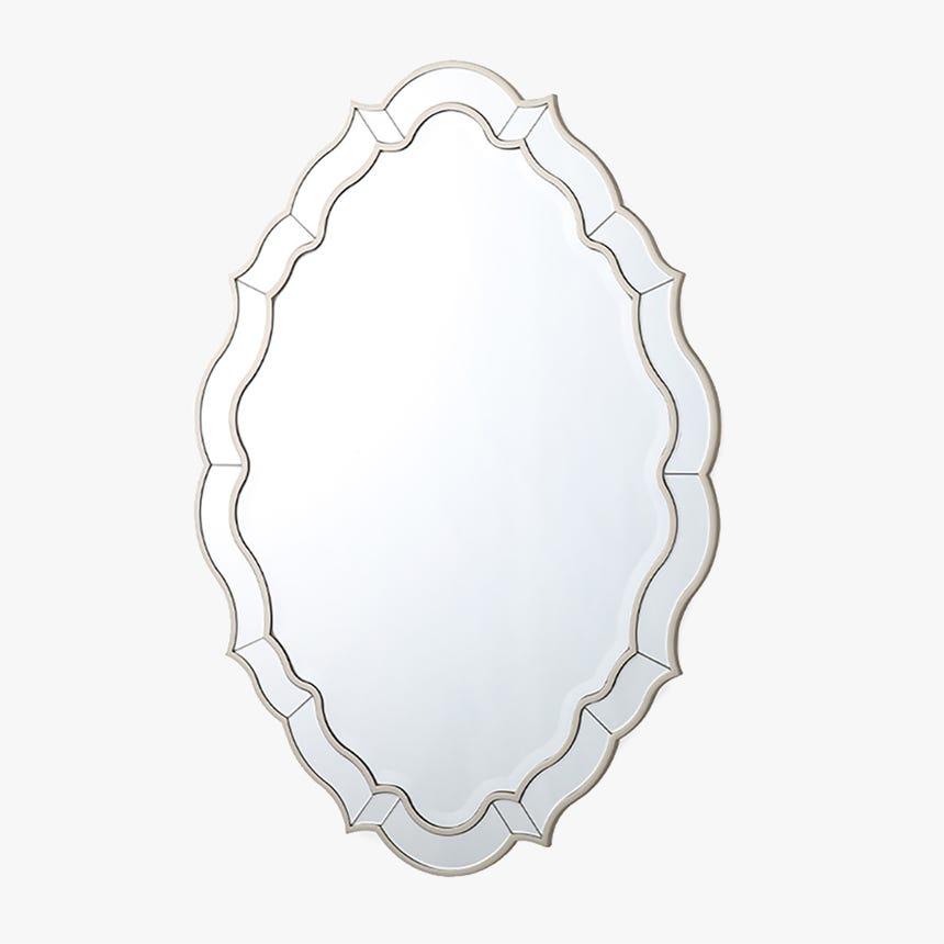 Espejo Bellagio Plata 106x76 cm