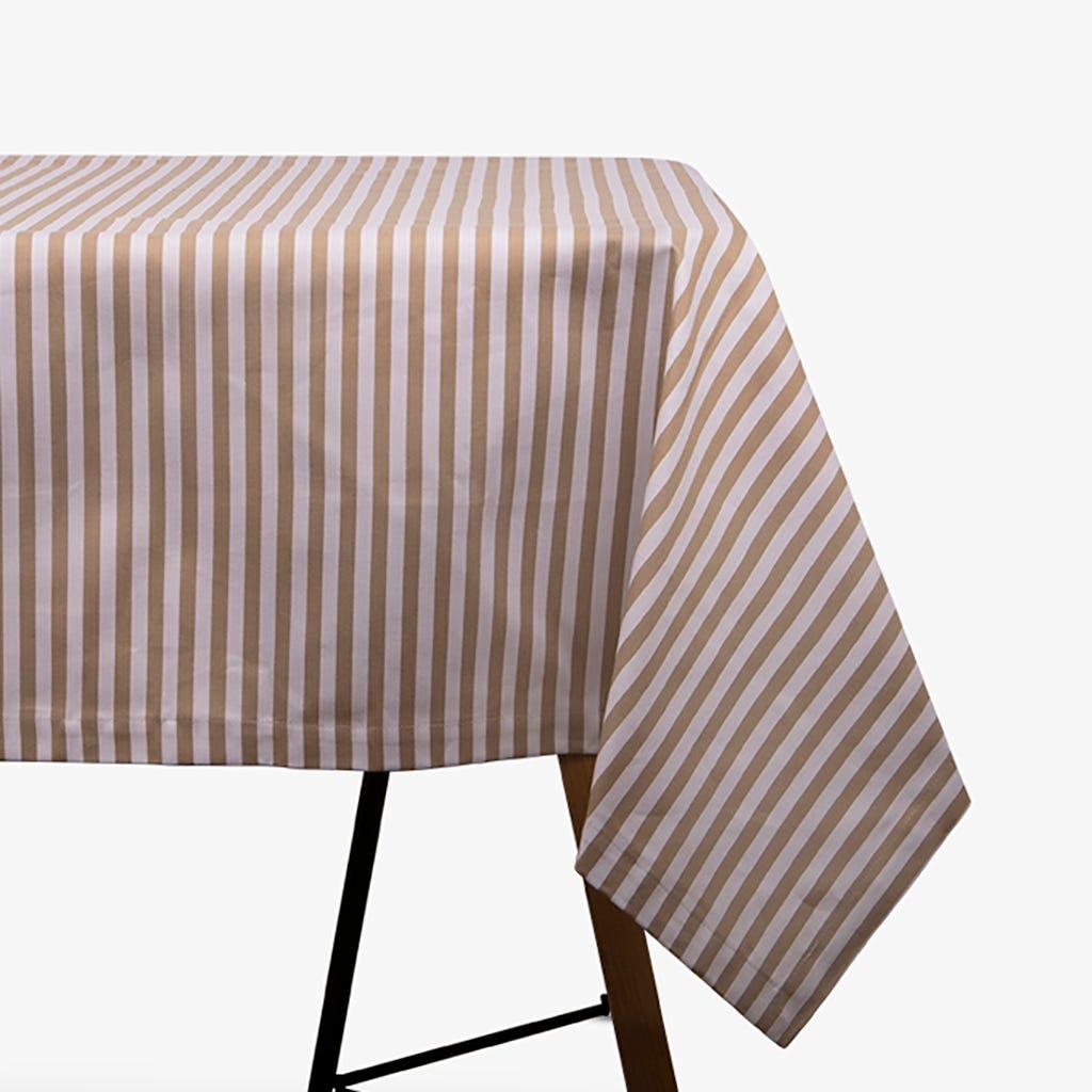 Nappe Aveiro Rayures Beige 150x150 cm