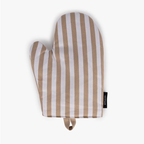 Glove Aveiro Stripes White and Beige 27x21 cm