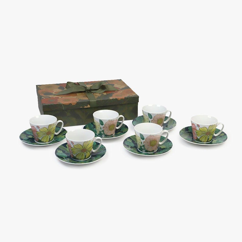 Chávena de Chá Poppy (conjunto6)
