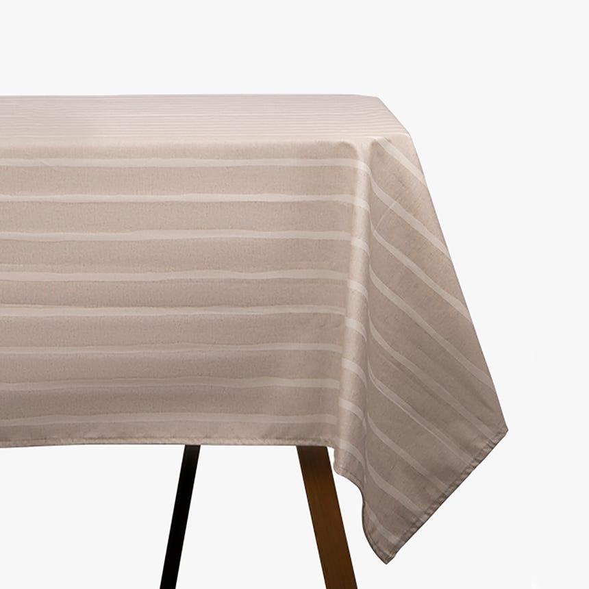 Toalha de mesa Martina riscas 150x150 cm