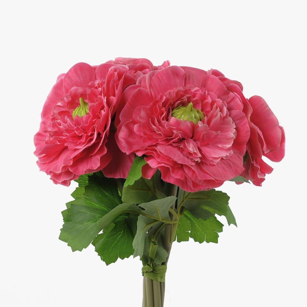 Rama de camelias Rosa oscuro 25 cm