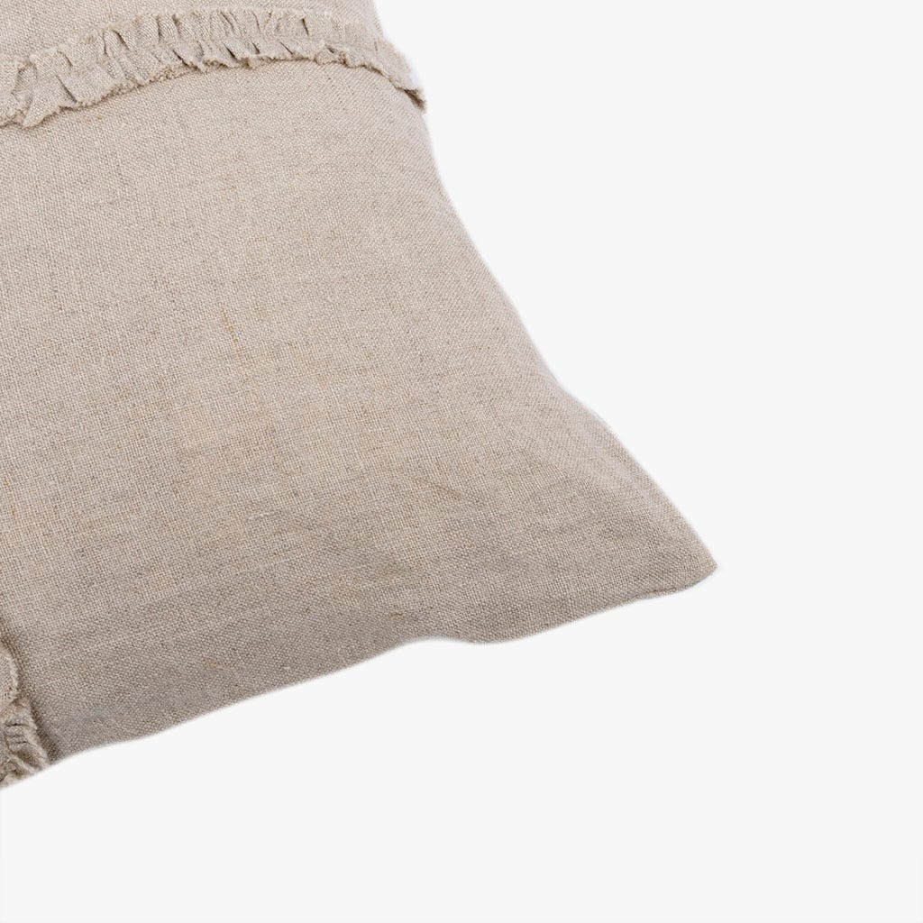 Capa de almofada Diana fita franzida natural 50x50 cm