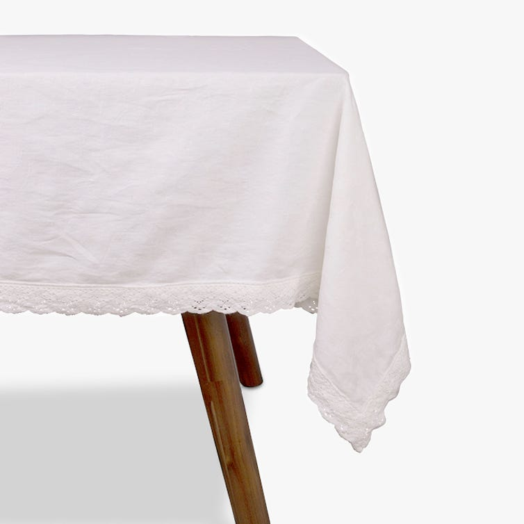 Toalha de mesa Paris branco 150x150 cm