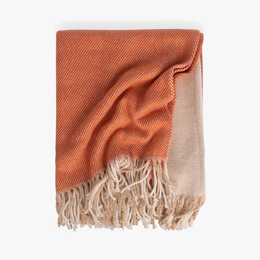 Couverture Foxy Naturel et Orange