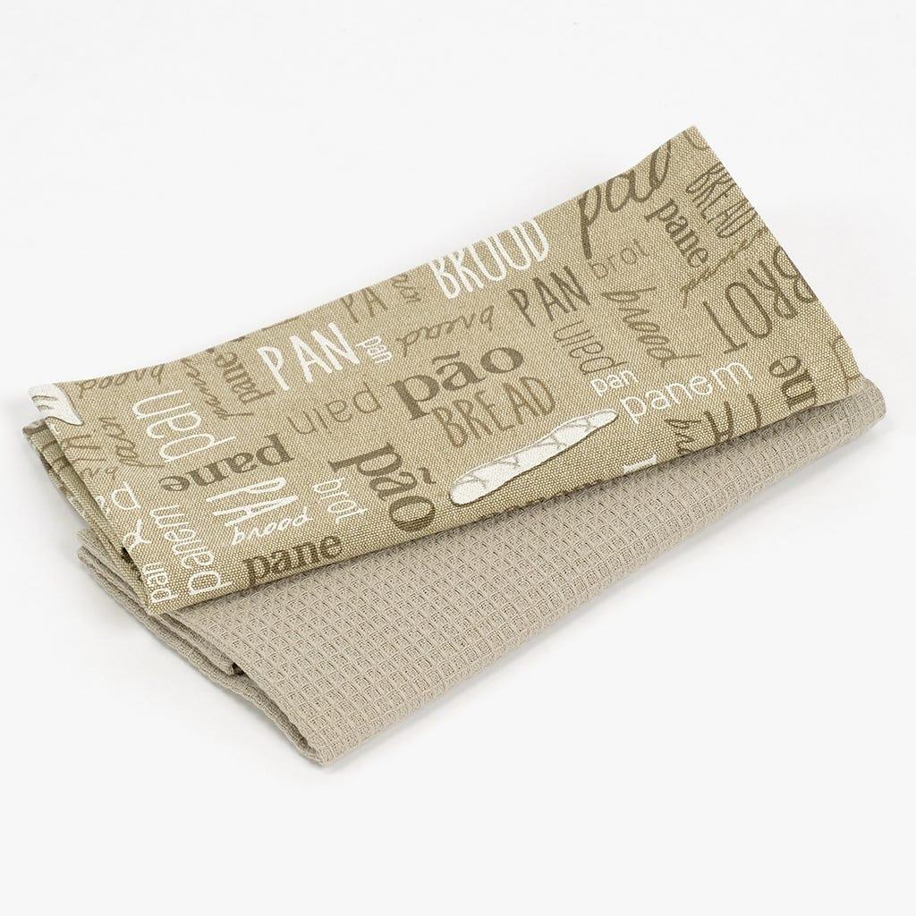 Pano de Cozinha Pão / Broa 50x70 cm (conjunto2)
