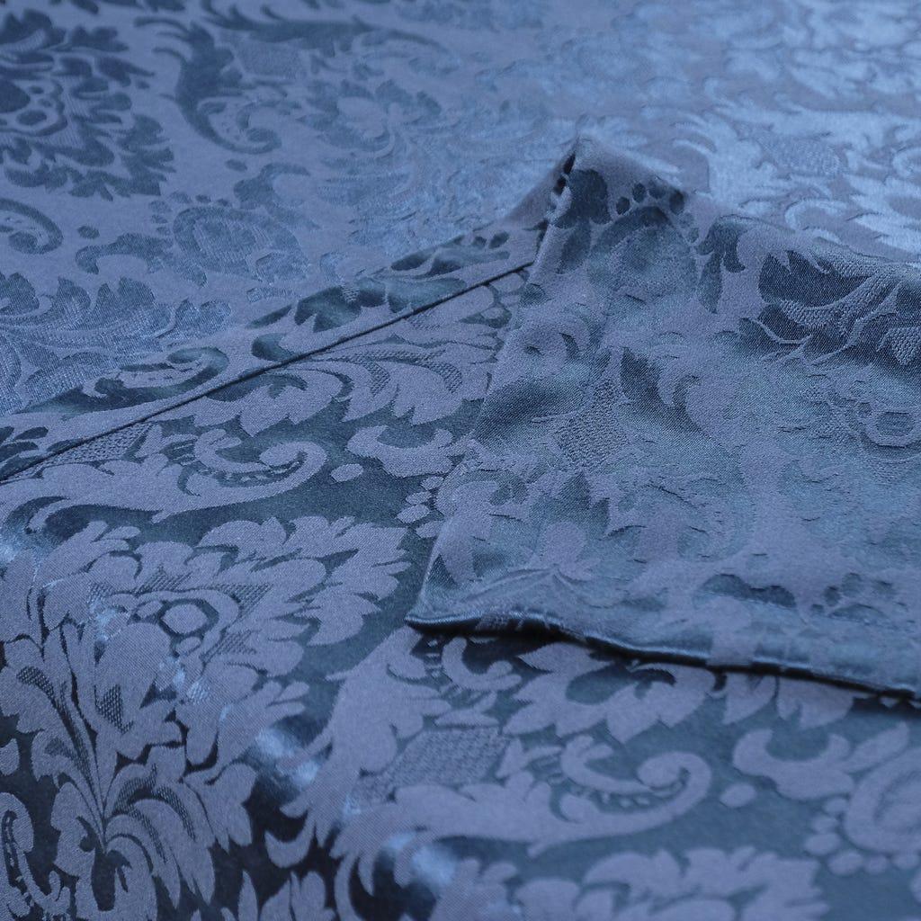 Toalha de Mesa Medalhão Azul 160x350 cm