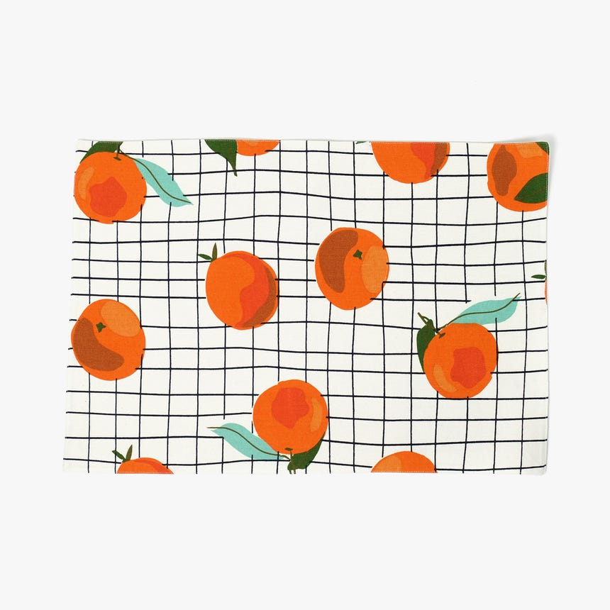 Mantel Individual Naranjas 33x49 cm