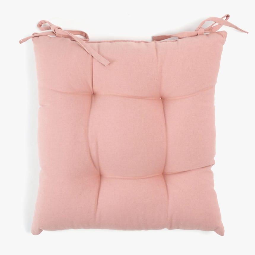 Capa de Almofada para Cadeira Rosa 40x40 cm