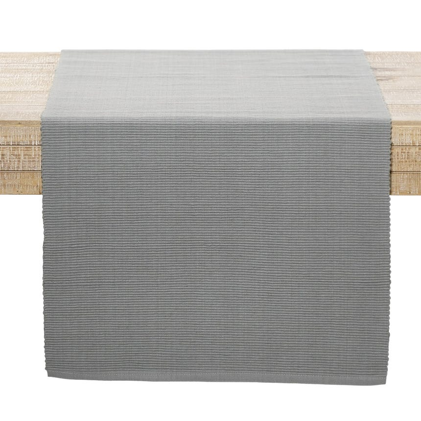 Runner Canelado Cinzento 45x150 cm