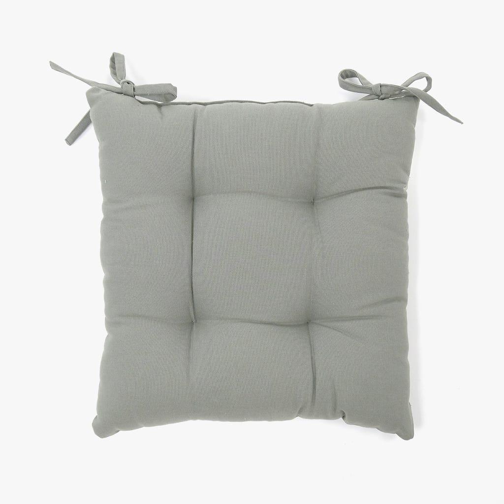 Almofada para Cadeira Cinzento 40x40 cm