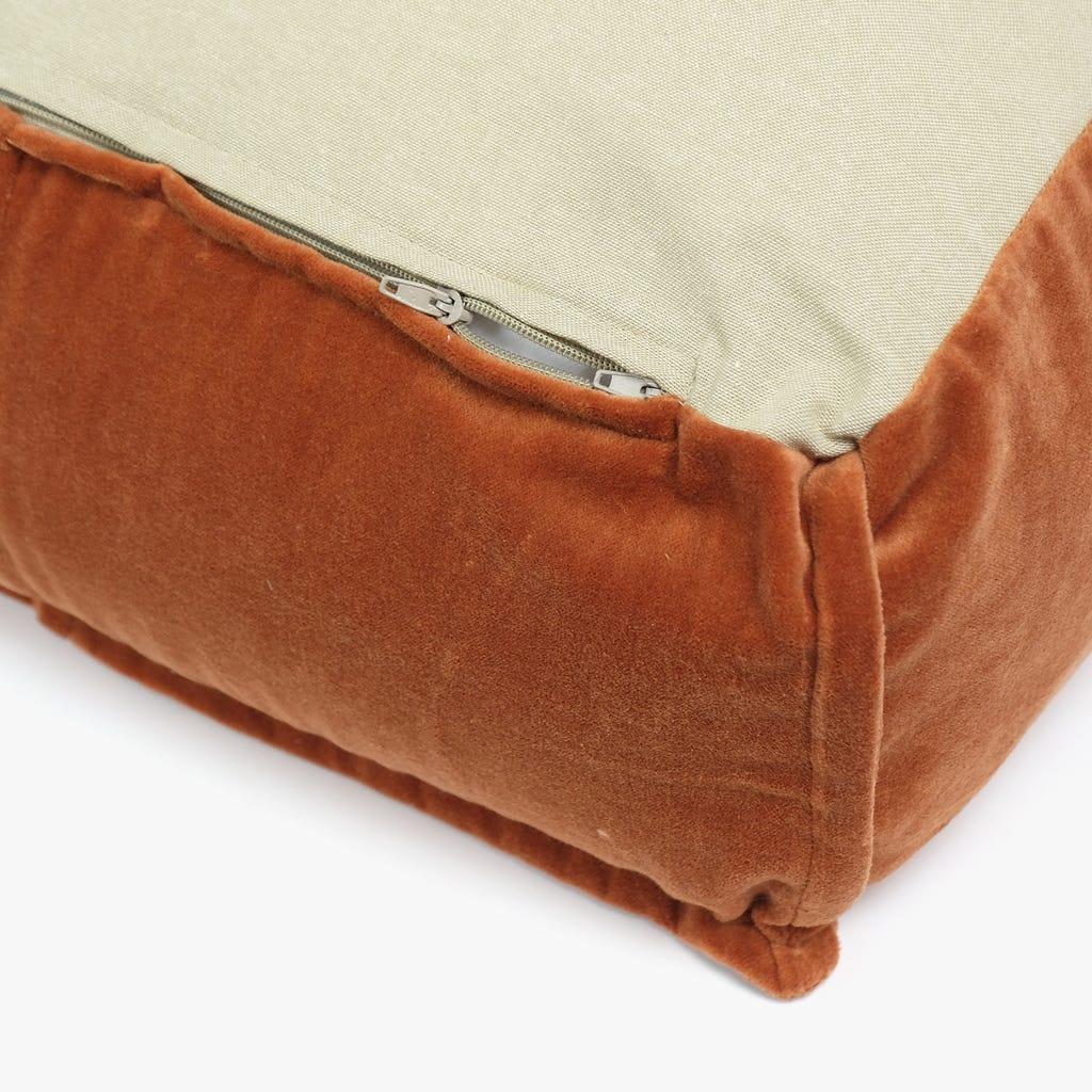 Puf Pumpkin Veludo Laranja 50x50x20 cm