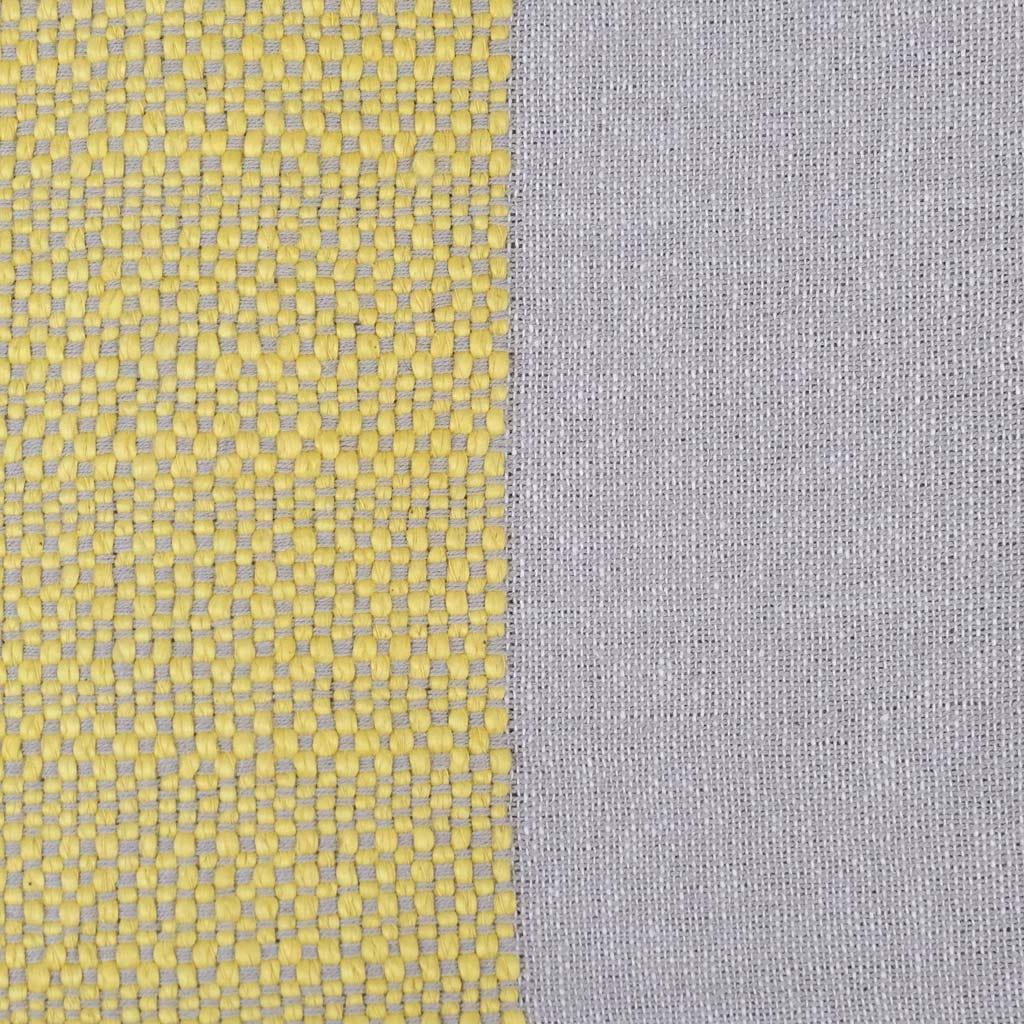 Manta Franjas Amarelo 125x170 cm