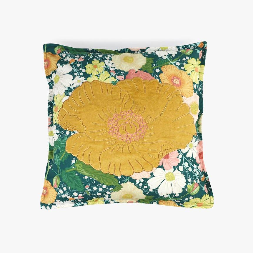 Capa de Almofada Poppy Flor Laranja 45x45 cm