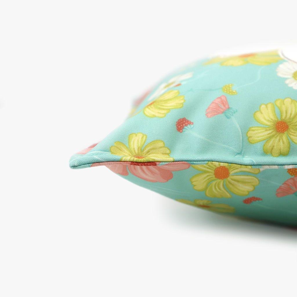 Capa de Almofada Poppy Flor Branco 45x45 cm