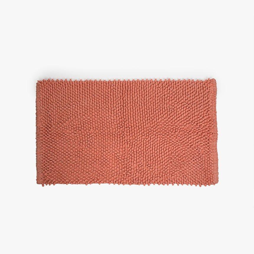 Alfombrilla de Baño Pompón Coral 50x80 cm