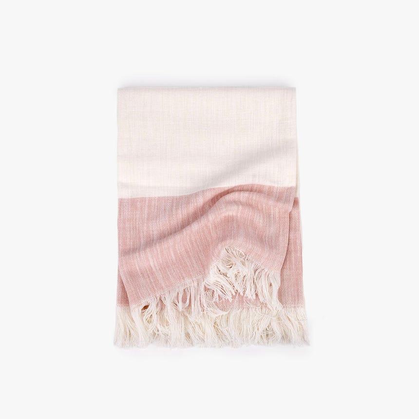 Manta Diana natural e rosa 125x150 cm
