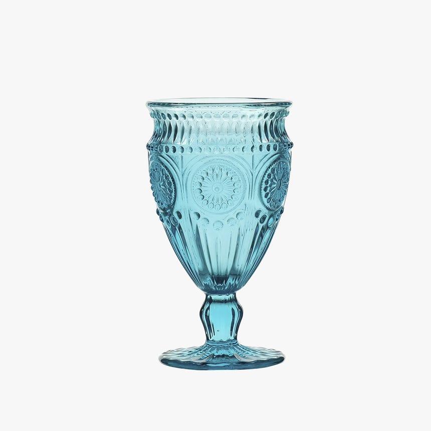 Copo com pé Chartres azul 16,4 cm