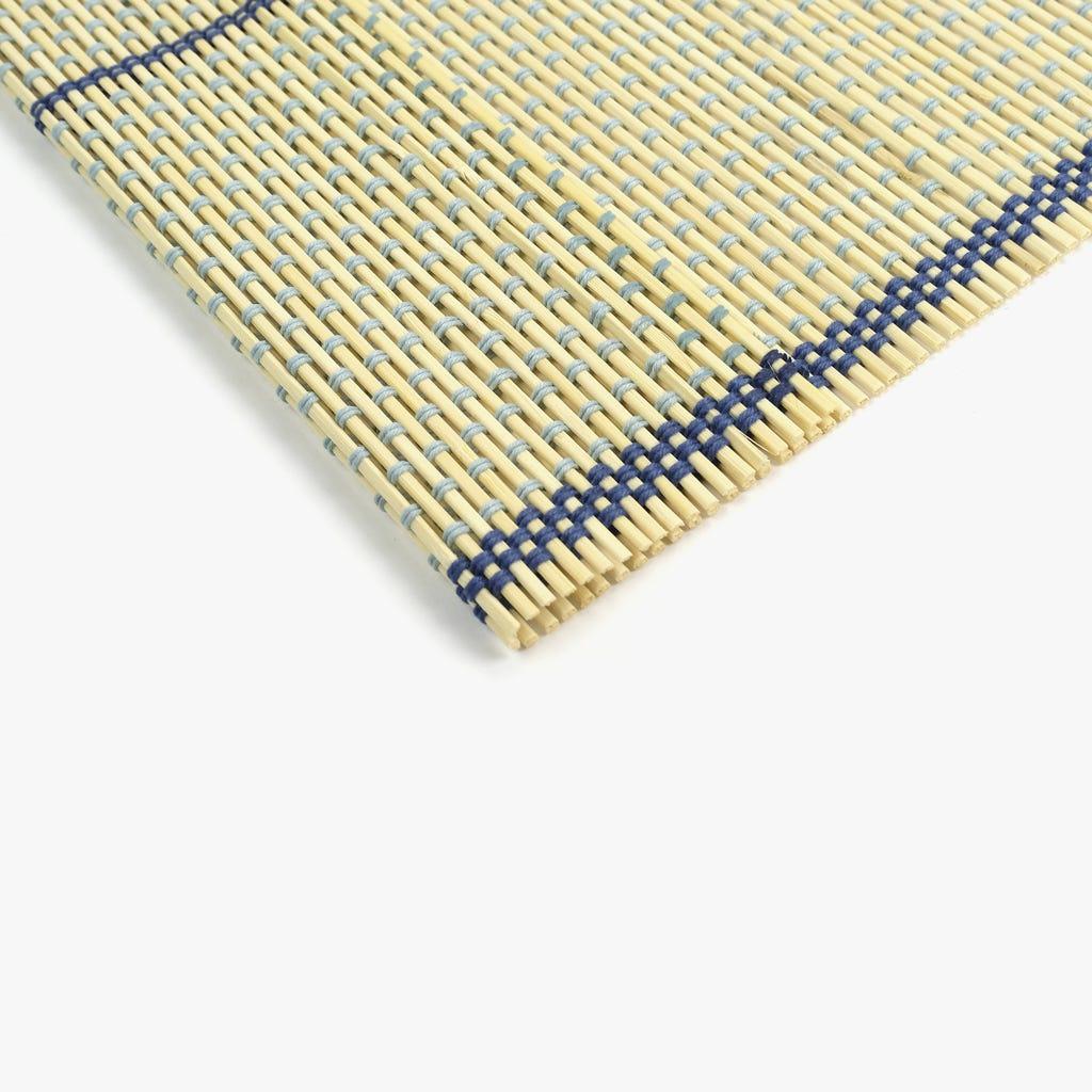 Individual Bambu Natural e Azul