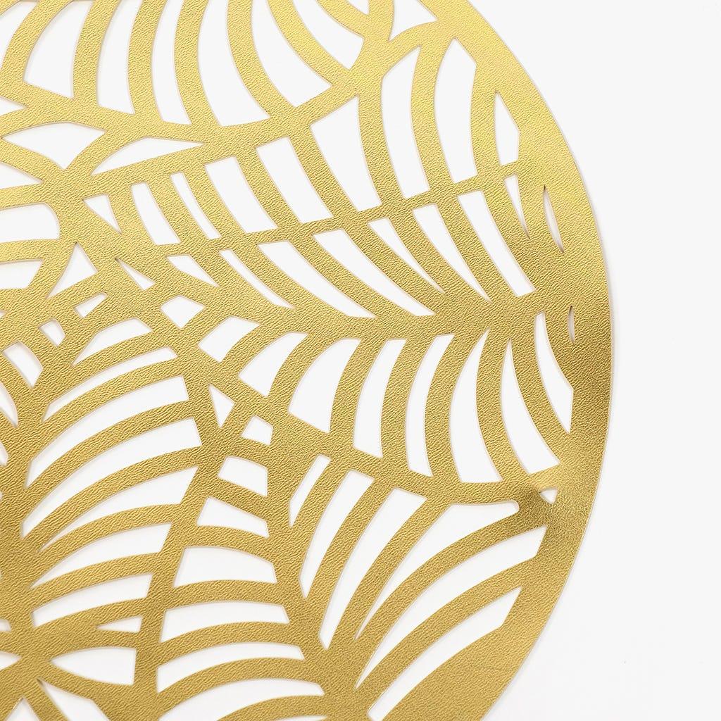 Individual Folhas Ouro D: 38cm