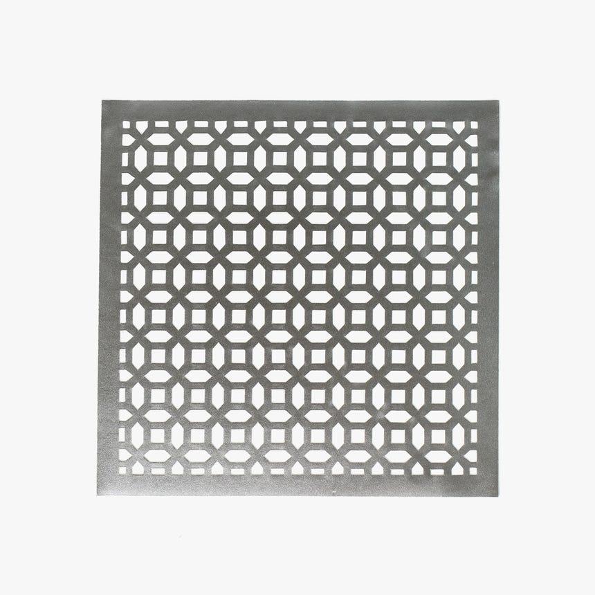 Individual Geométrico Prata 35x35 cm