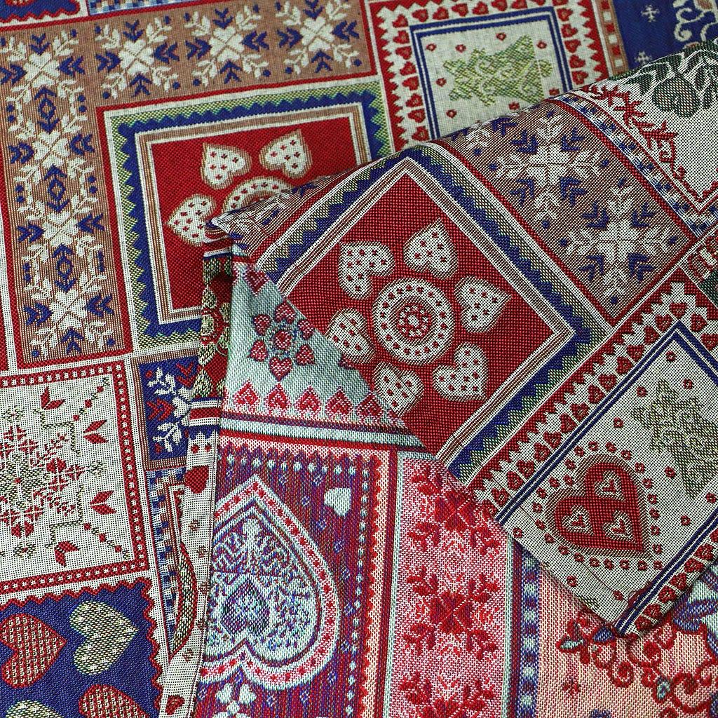 Toalha de mesa Corações Vermelho 180x180 cm