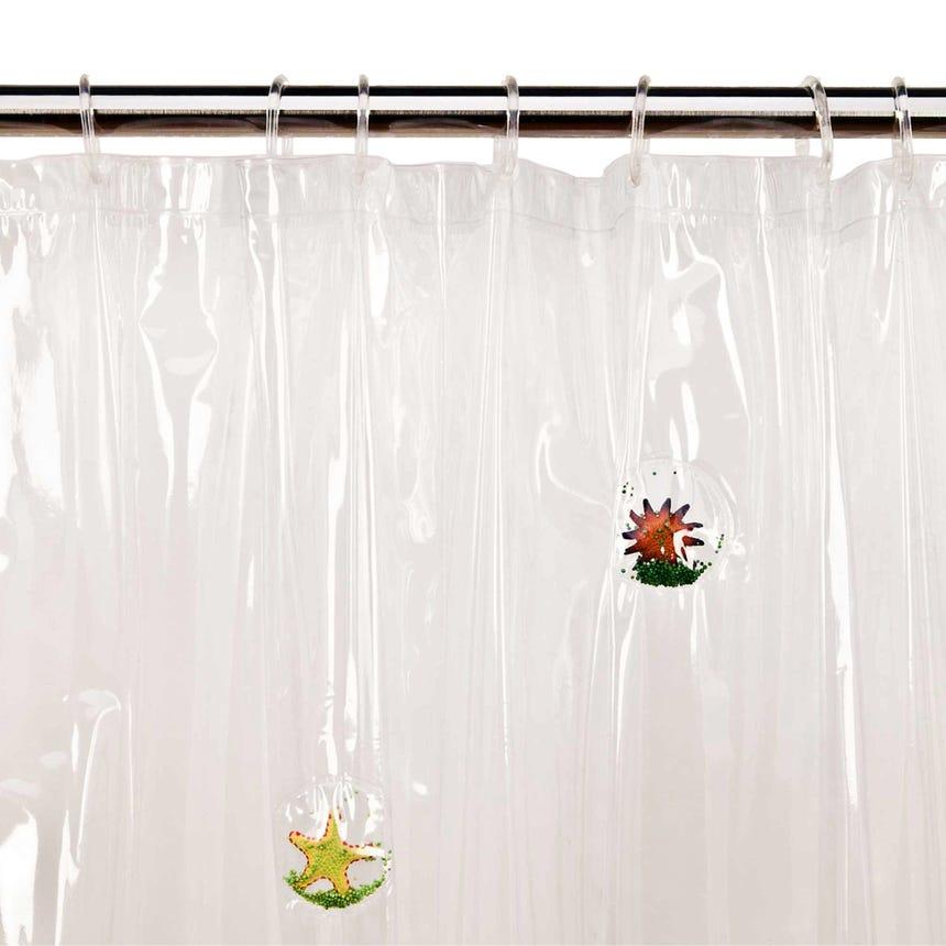 Cortina de Banho Beauty Star PVC Transparente