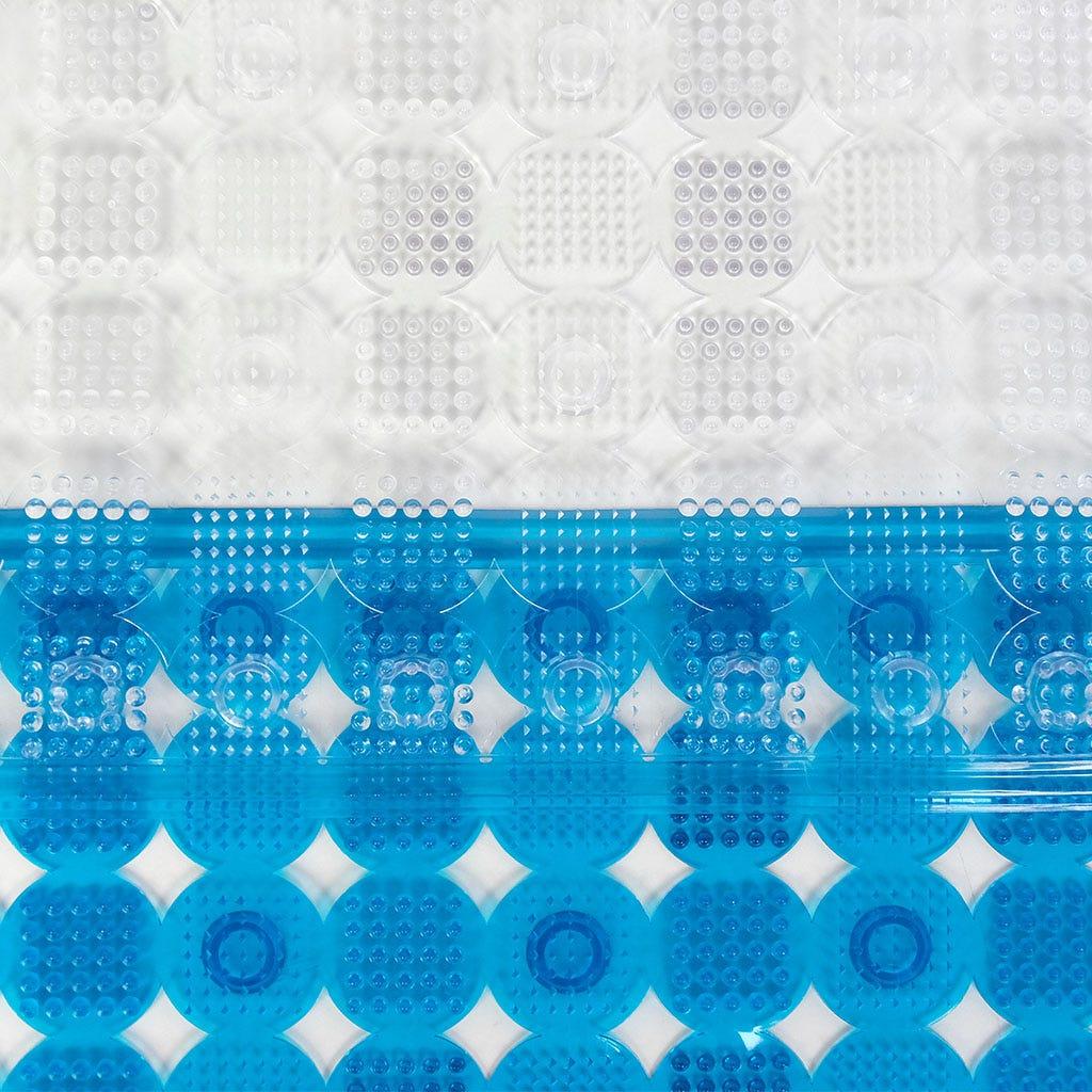 Tapete de Banho Círculos Transparente 54x54 cm