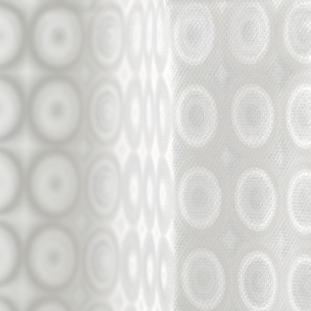 Cortina de Banho 3D Círculos 180x180 cm