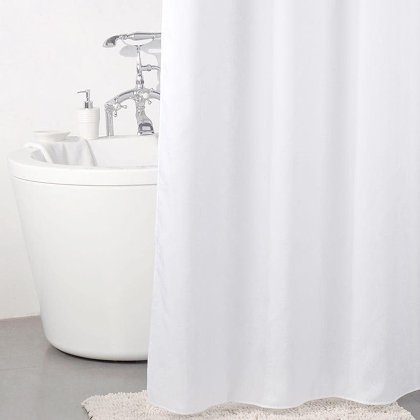 Cortina de Banho Cornucópias Branca 180x180 cm