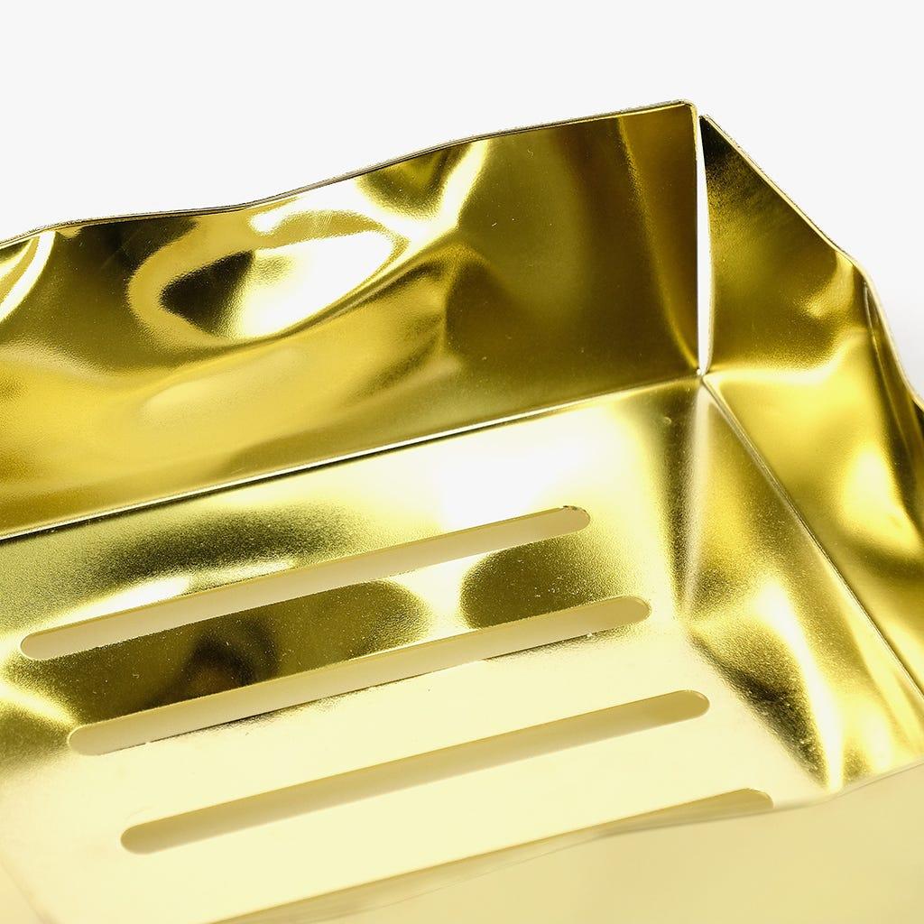 Cesto Dourado 19X19 cm