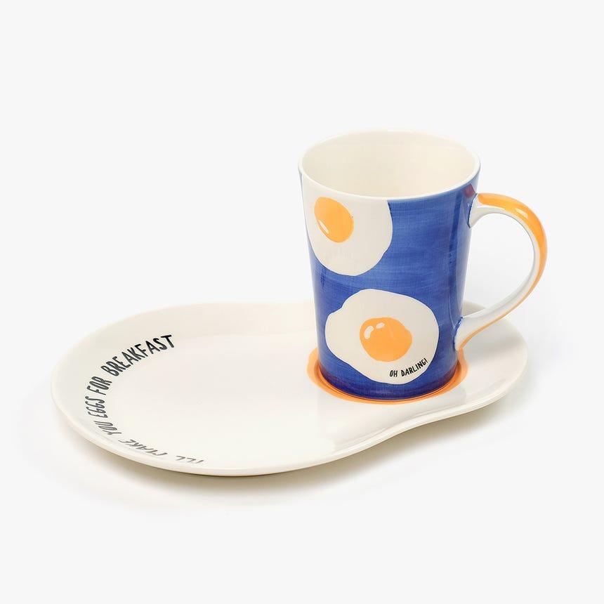 Caneca + Prato I'll Make You Eggs