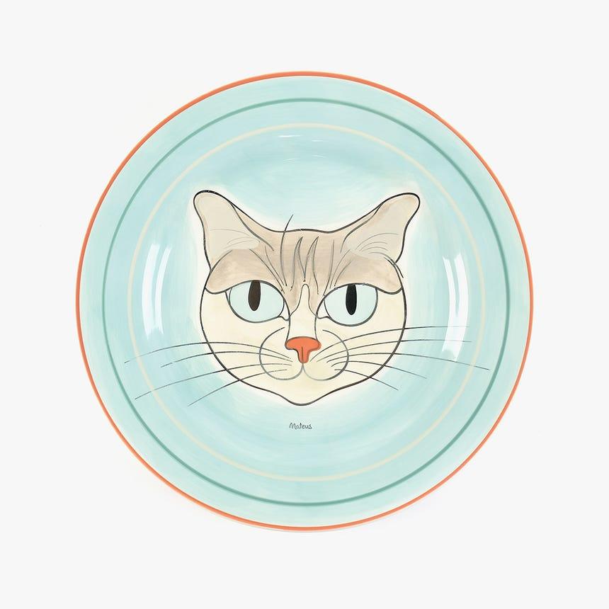 Prato Raso Millennial Cats Mateus 27,2 cm