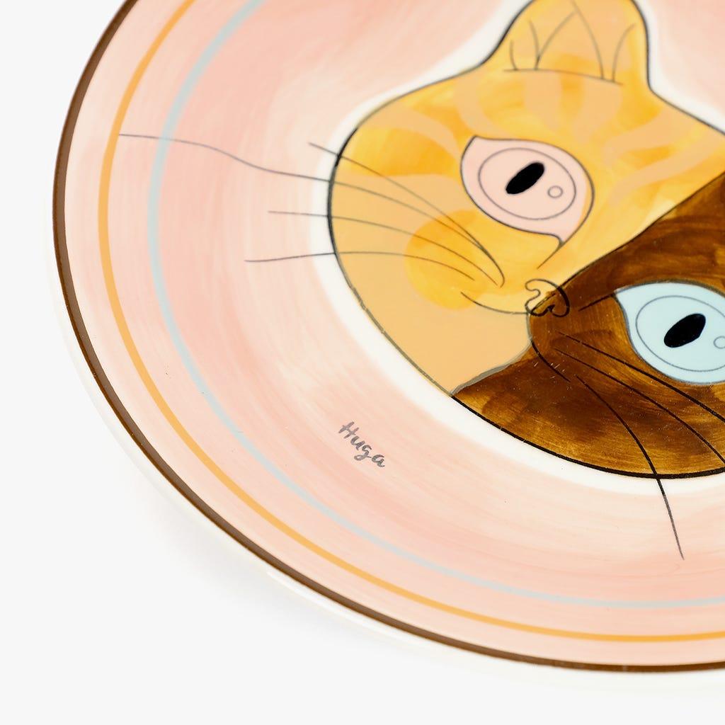 Prato de Sobremesa Millennial Cats Huga 20,7 cm