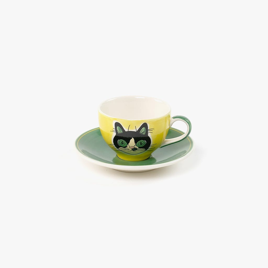 Chávena de Café + Pires Millennial Cats Rosie 85 ml
