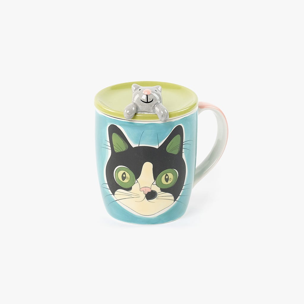 Caneca Millennial Cats Rosie com Tampa 284 ml