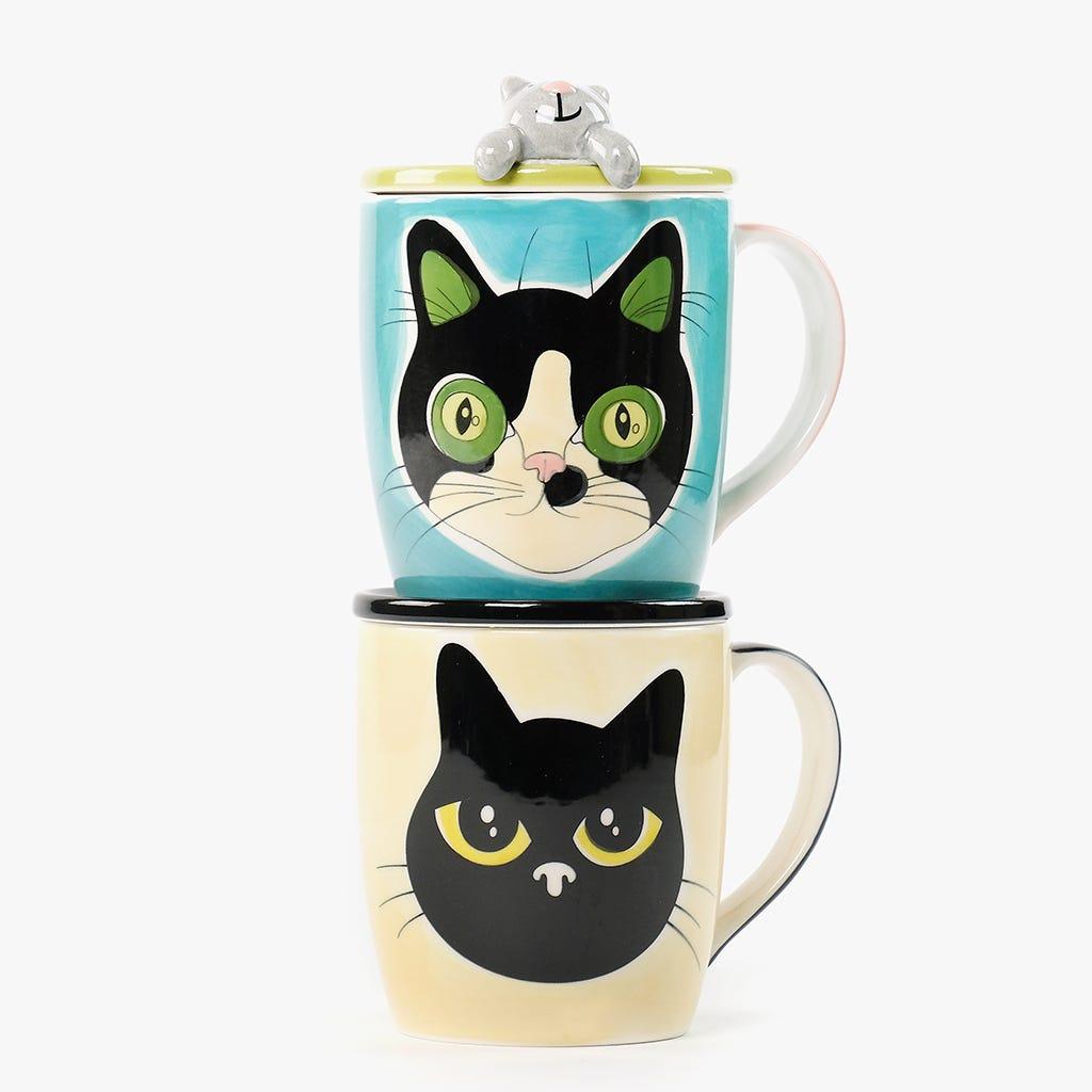 Caneca Millennial Cats Lili com Tampa 284 ml