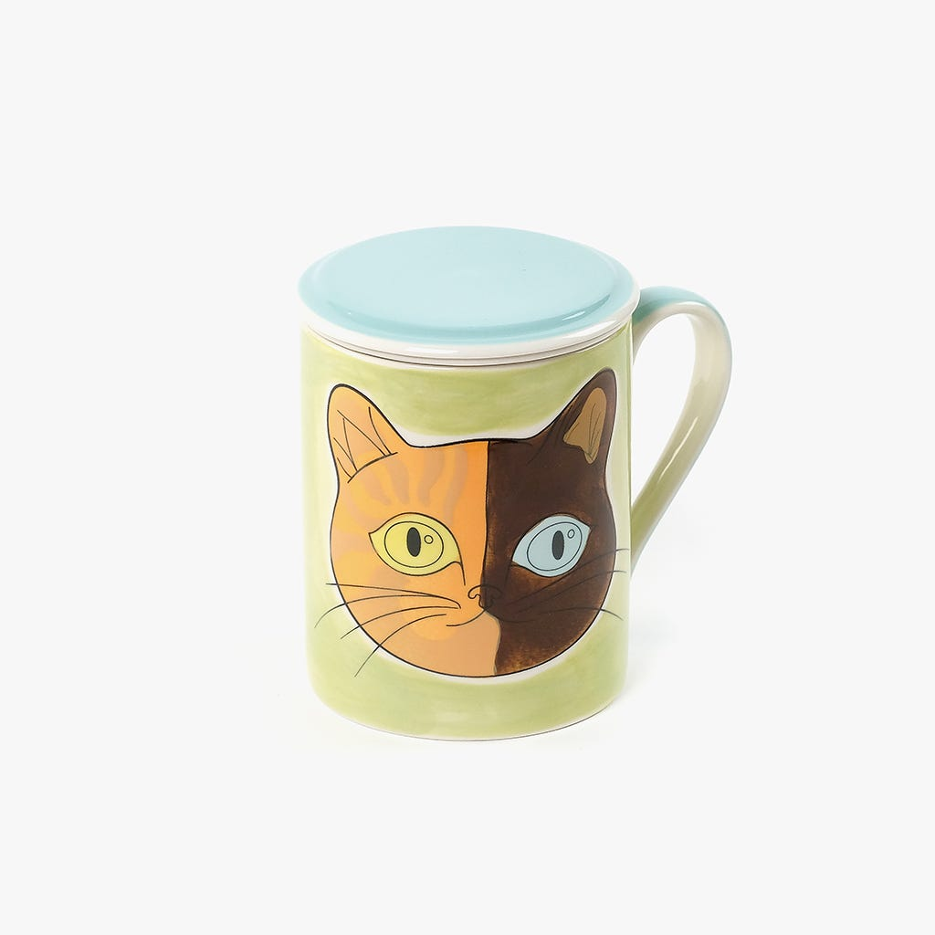 Caneca Infusora Millennial Cats Huga 398 ml