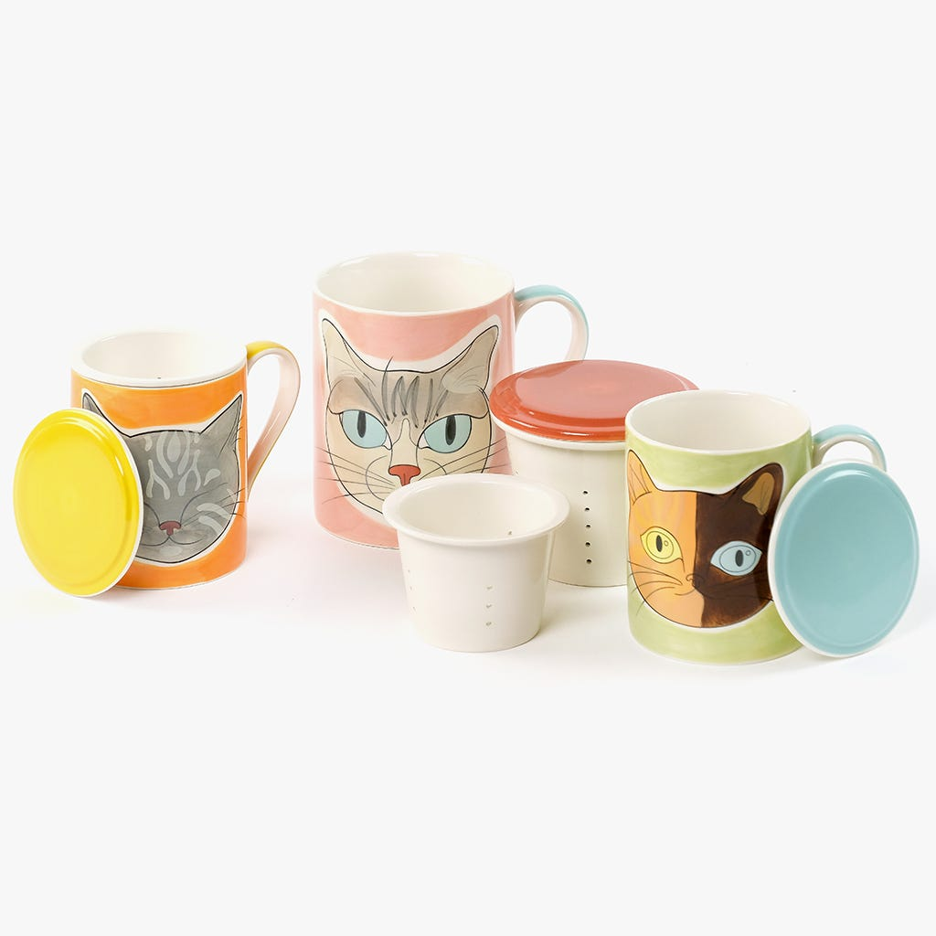 Caneca Infusora Millennial Cats Mateus 597 ml