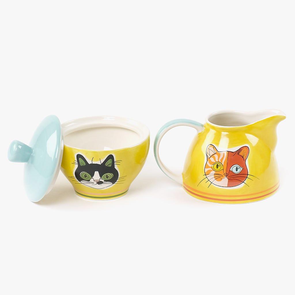 Açucareiro + Leiteira Millennial Cats