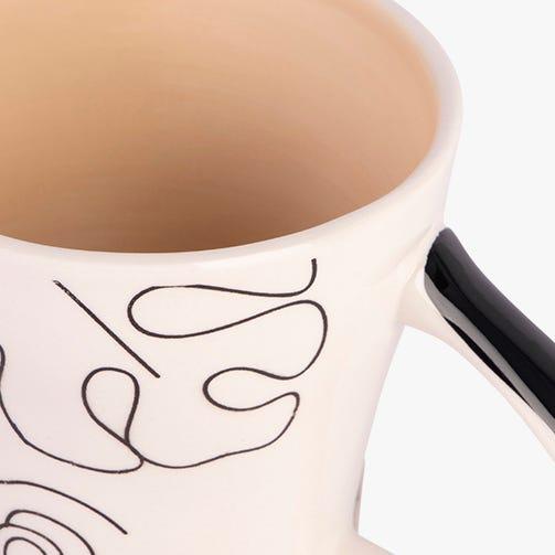 Caneca Sketch Bege 385 ml