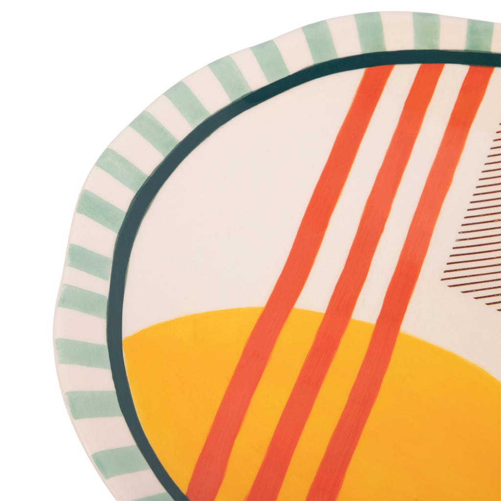 Assiette Plate Groovy