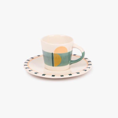 Taza de Café + Platillo Groovy