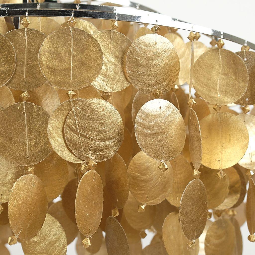 Candeeiro de Teto Conchas Ouro