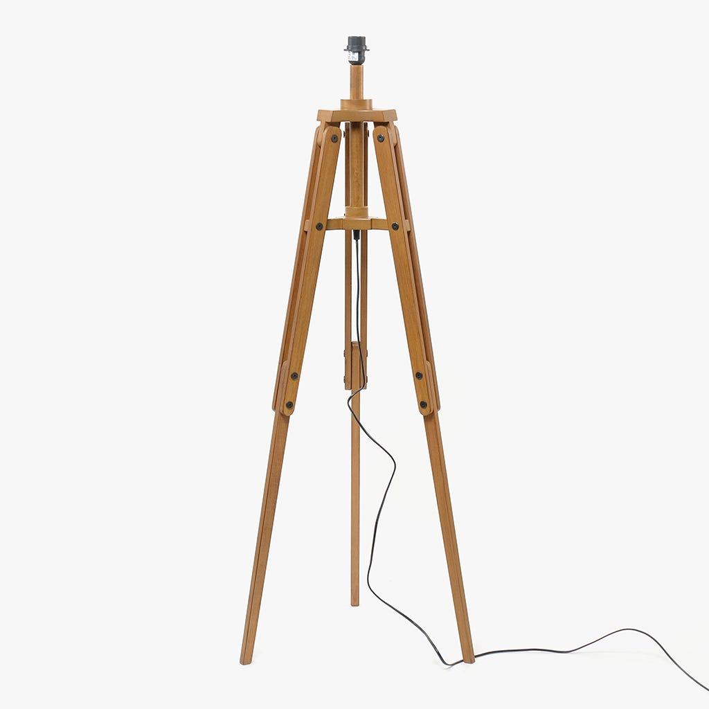 Candeeiro de Pé Zarco Tripé Brown D:55x158 cm